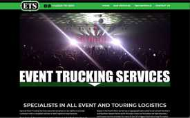 Event Trucking Services website